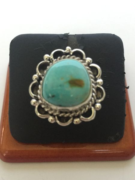 Signed Gene Martinez Sterling silver & turquoise ring.