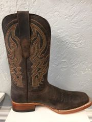Muleshoe, Buffalo Tobacco with Tobacco Top Men's All Leather Boots. TM201265.