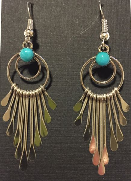 Paula armstrong sleeping beauty turquoise dangle earrings.