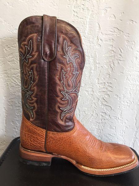 Oscar, Shoulder Honey with Espresso Brown Top Men's All Leather Western Boot. TM201073.