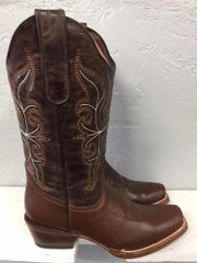 Cimarron, Ladies All Leather Brown with Brown Top Western Boot. TML200654