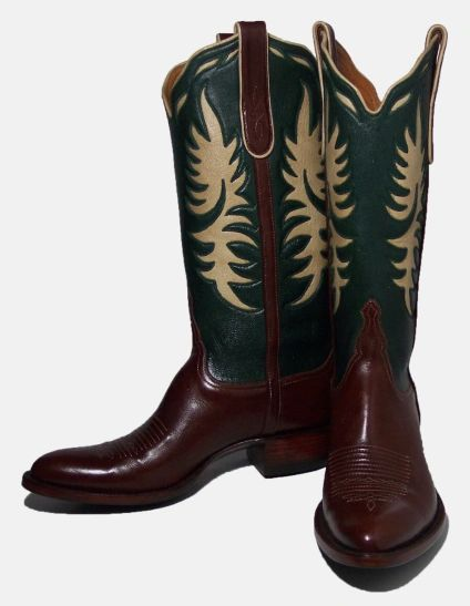 VAQUERO STYLE HERMOSA BOOTS WITH GALLEGOS SIDE SEAM