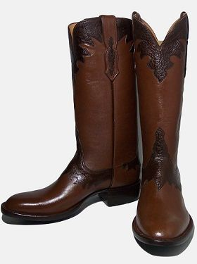 VAQUERO BOOT W BULL COLLARS FANCY EARS