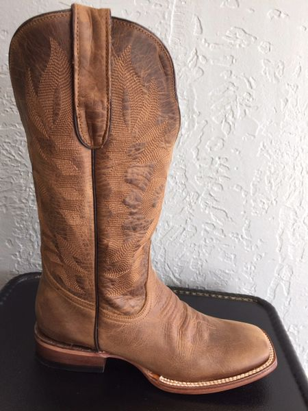 Cloverleaf Sandstone with Classic Stitching. All Leather Pull up Ladies Western Boot. TML201397.