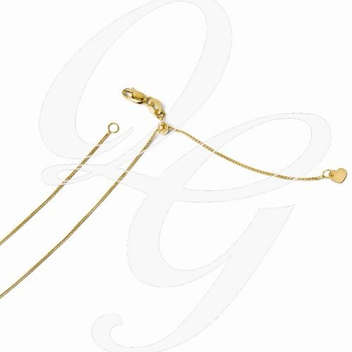 """14K YELLOW OR WHITE GOLD 22"""" ADJUSTABLE CHAIN BY WAY OUT WEST"""