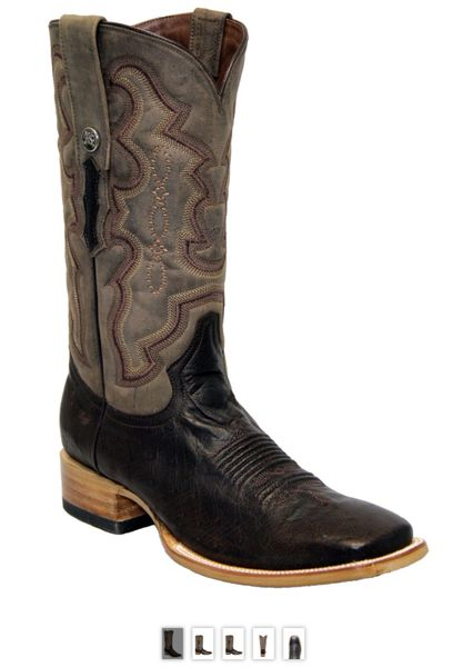 Nolan, Smooth Ostrich Pull Up Nicotine Men's All Leather Western Boot. TMX200496.