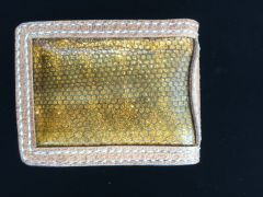 GENUINE SEA SNAKE WALLET WITH LEATHER EDGE MADE IN TEXAS