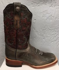Lindsey, Marble Gray with Stonewashed Red Top. Ladies All Leather Boots. TML201297