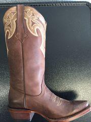 Orense, Almond Brown with Sandstone Collar Ladies Western Boot. TML201068.