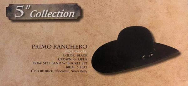 """AMERICAN HAT COMPANY PRIMO RANCHERO 5"""" BRIM"""