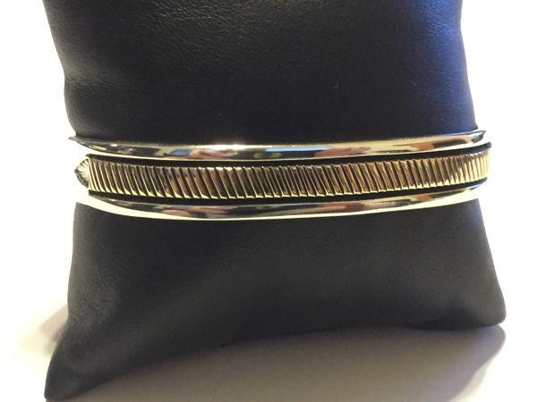 14k gold & sterling silver Bruce Morgan bracelet