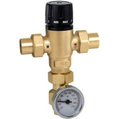 521 MixCal Adjustable Thermostatic and Pressure Balanced Mixing Valve with Temperature Gauge