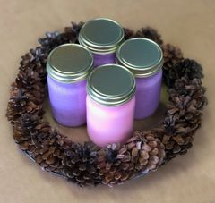 Advent Wreath and Soy Candles