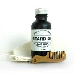 Black Pepper Beard Oil Gift Set