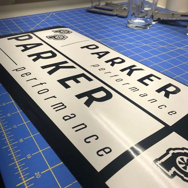 Precision Turbo Decal: Parker Performance Window Decals