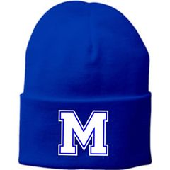 Embroidered Royal Blue Knit Cap