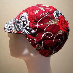 Skulls & Roses on Red