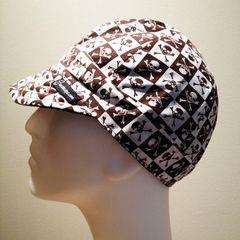 Brown Checkered Skulls & Crossbones
