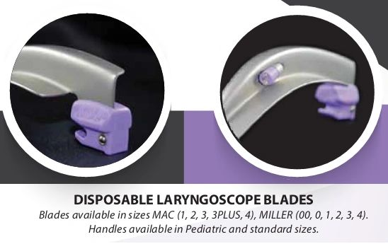 Intubrite Fiber Optic Disposable Laryngoscope Blades