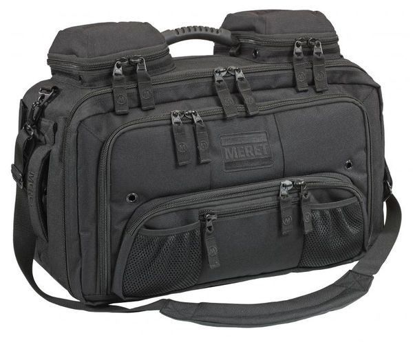 Meret Omni Pro EMS Response Bag, Red TS Module Ready, Tactical Black
