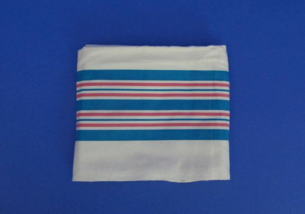 "Linens, Baby Blanket, Cotton, 30""x40"", Blue and Pink stripes, 100 per case"