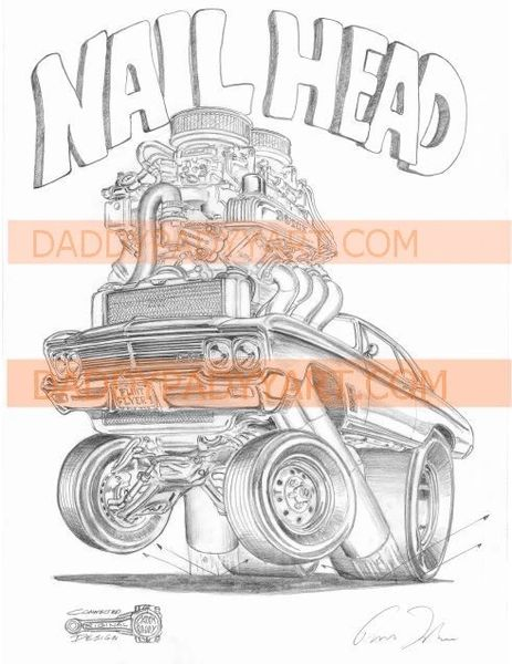 "1965 Skylark Nailhead - Remarked 17""x 24"""