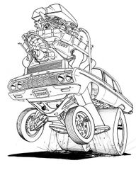 """64 PLYMOUTH INDY WEDGE. SIGNED PRINT 17"""" X 24"""""""