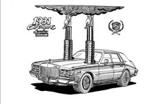 "1981 CADILLAC SEVILLE DIESEL SIGNED PRINT 17""X 22"" PAPER"