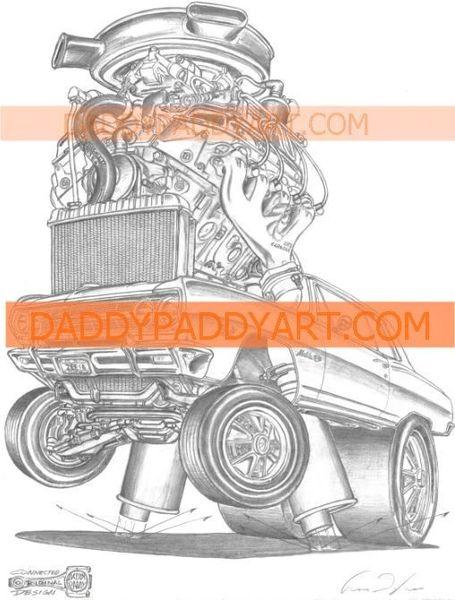 """1965 Chevelle Z16 396 - Print 17"""" x 24 """""""