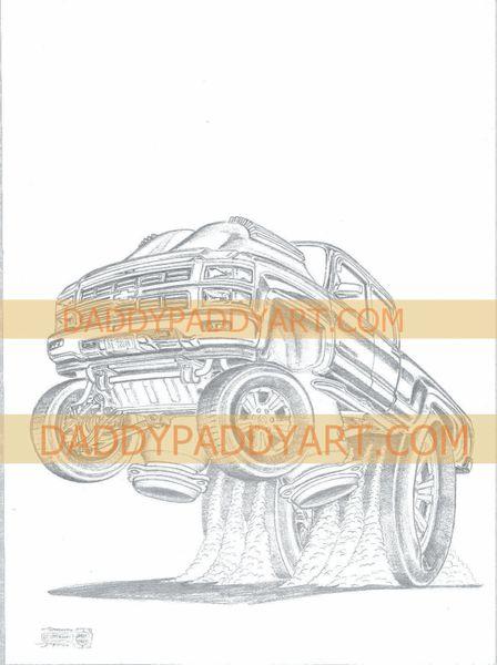 "2015- Silverado Pickup- Remarked Print 17"" x 24 """