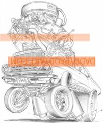 """1968 Road Runner - Remarked Print 17""""x 24"""""""