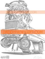 """1965 Chevelle Z16 396 - Remarked Print 17""""x 24"""""""