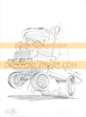 "1970 GTO Judge Convertible - Remarked Print 17"" x 24"""