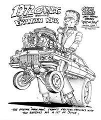 "1972 Cadillac Sedan Frankies ride SIGNED PRINT 17"" X 24"""