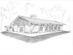 "Architectural Rendering - Long Island Estonian Camp 17""x 24"""