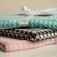 HOME - Baby Blanket Houndstooth