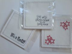 HOME - Cotton Coasters Hand Stamped
