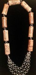 ACCESSORIES - Wine Cork Necklace Triple Circles