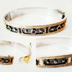 ACCESSORIES - Sterling Sivler w 18kt Gold Bracelet