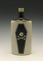One foot in the grave Flask