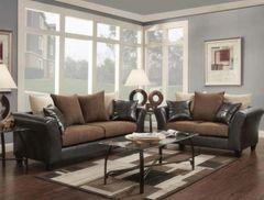 Chocolate Sofa and Love Seat