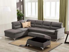 Larry Sectional Gray