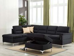 Larry Sectional Black