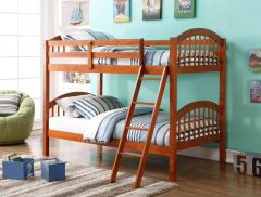 HH1111 Twin Over Twin Bunk Bed -Oak