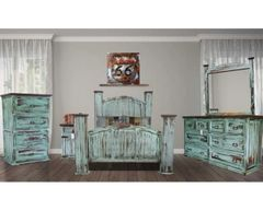 Mansion Turquoise Bedroom Set