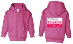 My Moms Toddler Full Zippered Fleece Hooded Sweatshirt