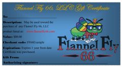Flannel Fly 66 Gift Certificate