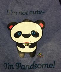 Pandsome Panda Unisex Short Sleeve Tee