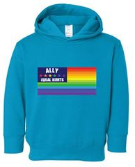 Ally Flag Toddler Pullover Fleece Hooded Sweatshirt
