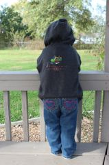 FF Logo Complete Color Toddler Full Zippered Fleece Hooded Sweatshirt